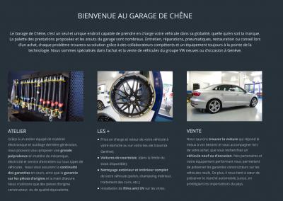 Garage de Chêne – site web